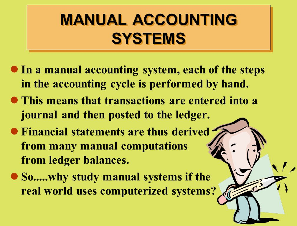 MANUAL ACCOUNTING SYSTEMS