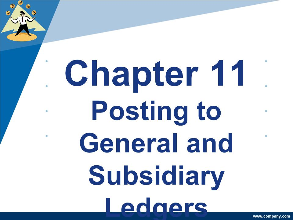 Chapter 11 Posting to General and Subsidiary Ledgers