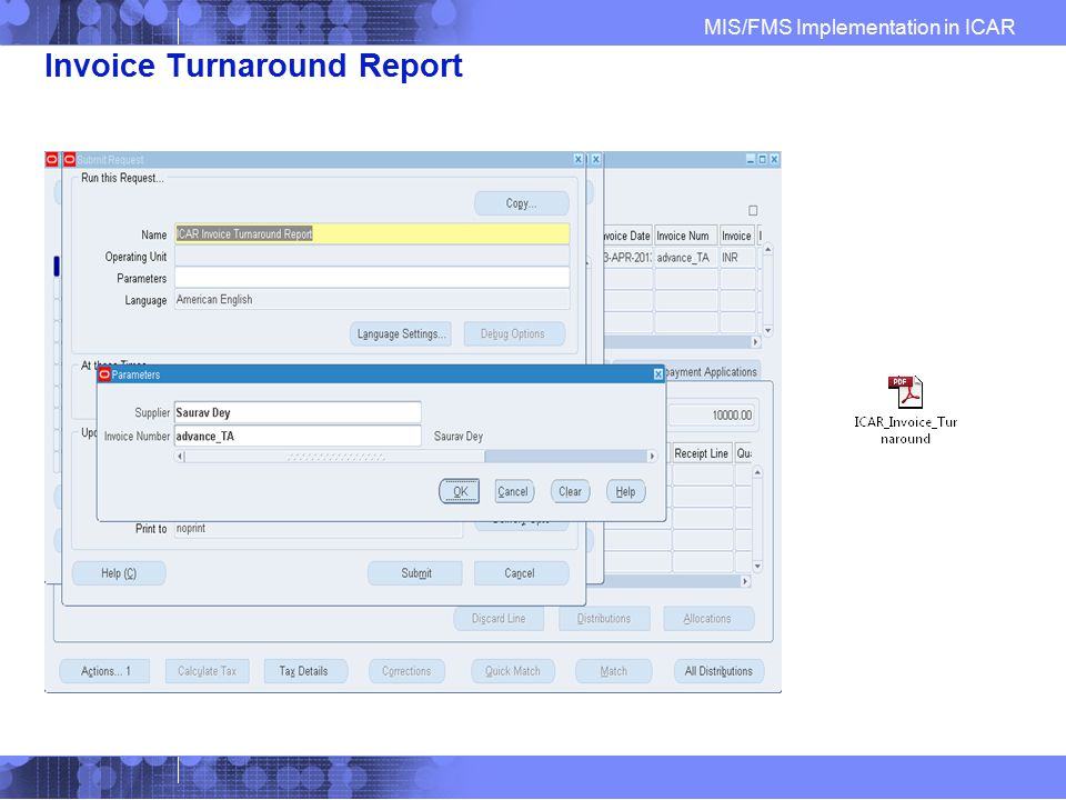 Invoice Turnaround Report