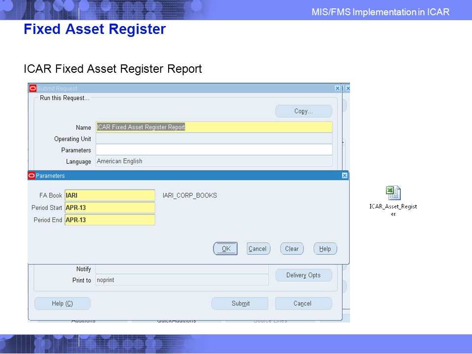 Fixed Asset Register ICAR Fixed Asset Register Report