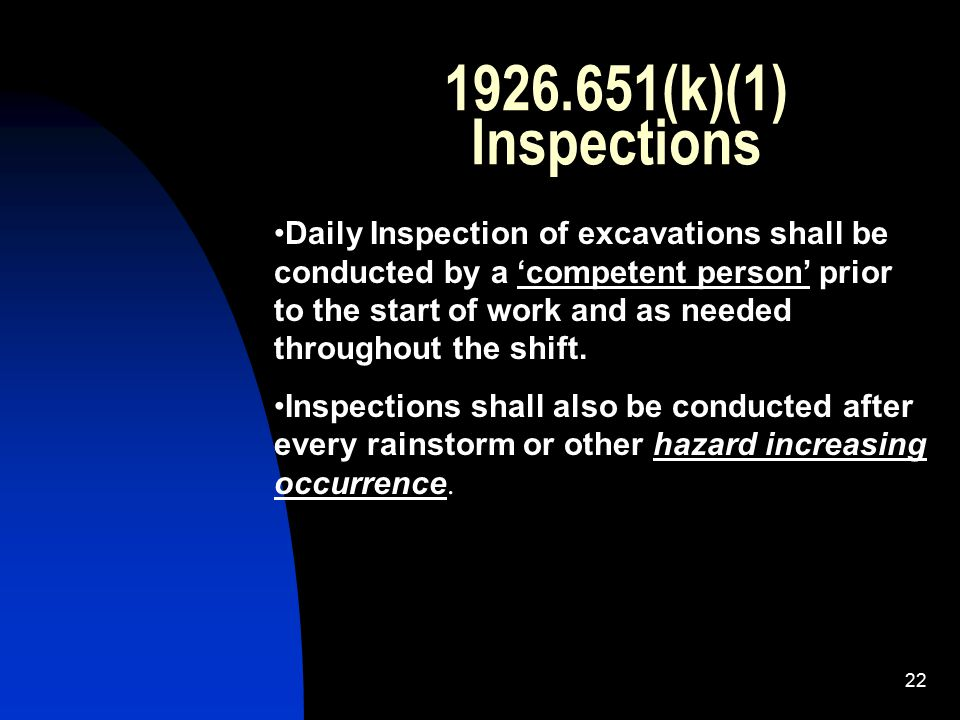 (k)(1) Inspections