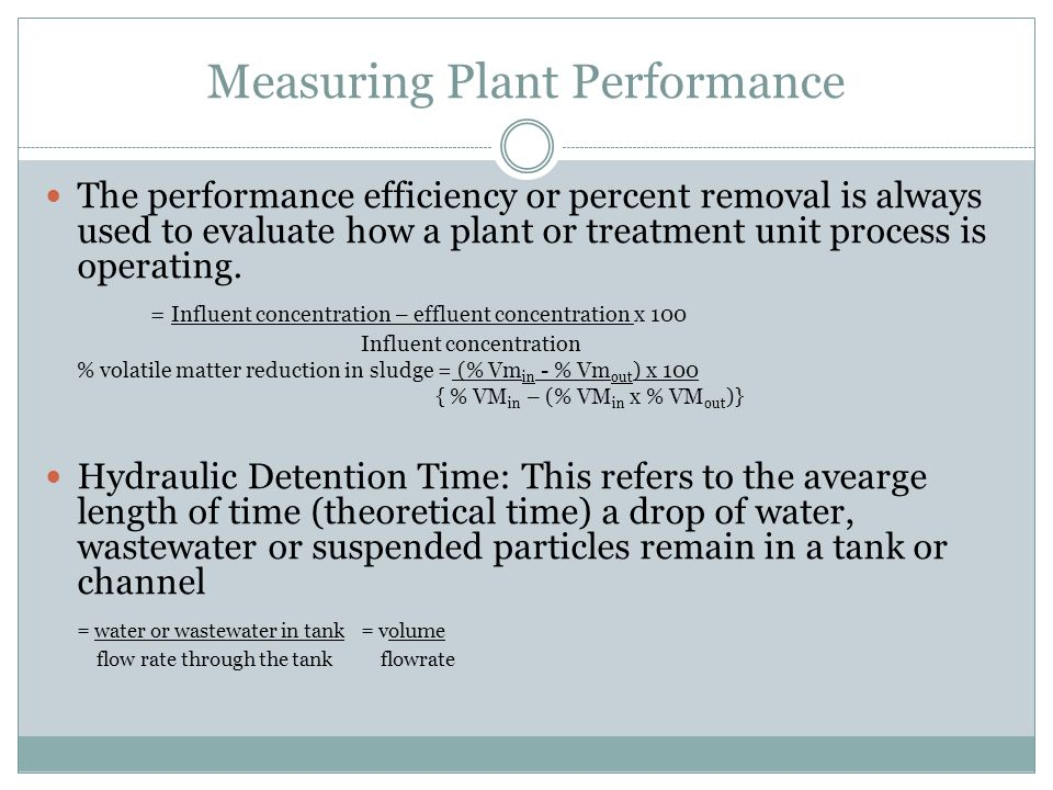 Measuring Plant Performance