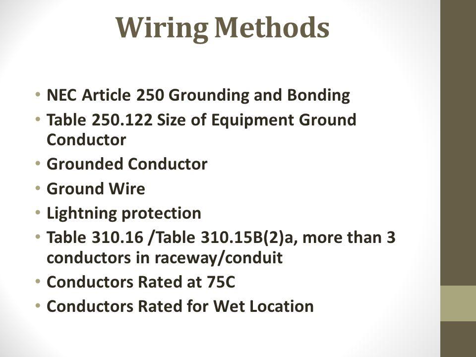 pump station electrical design ppt video online download rh slideplayer com nec wiring methods and materials nec 517 wiring methods
