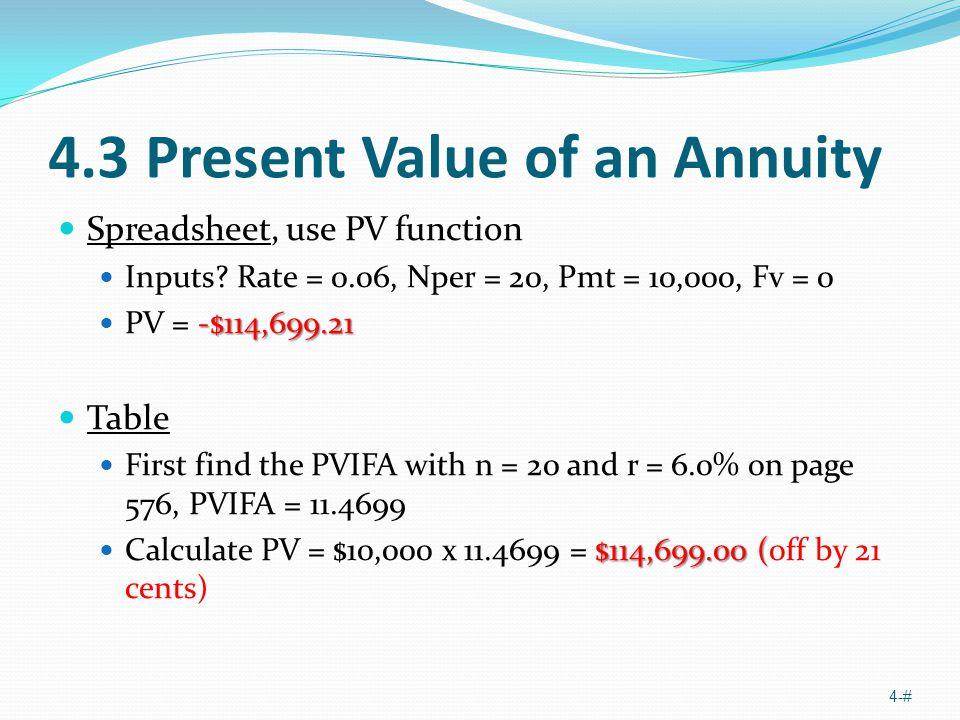 The Time Value Of Money Part Two Ppt Video Online Download