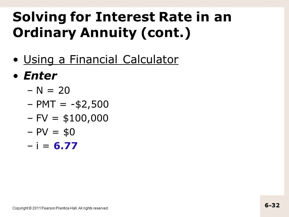 the time value of money annuities and other topics ppt download