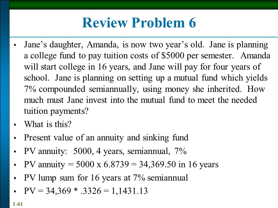 Annuities and Sinking Funds - ppt download