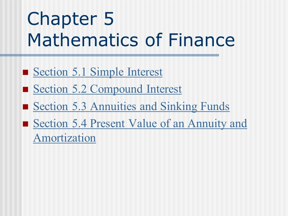 chapter 5 mathematics of finance ppt download