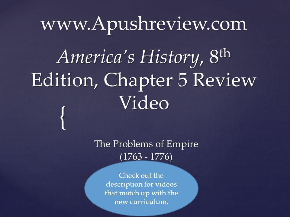 America S History 8th Edition Chapter 5 Review Video Ppt