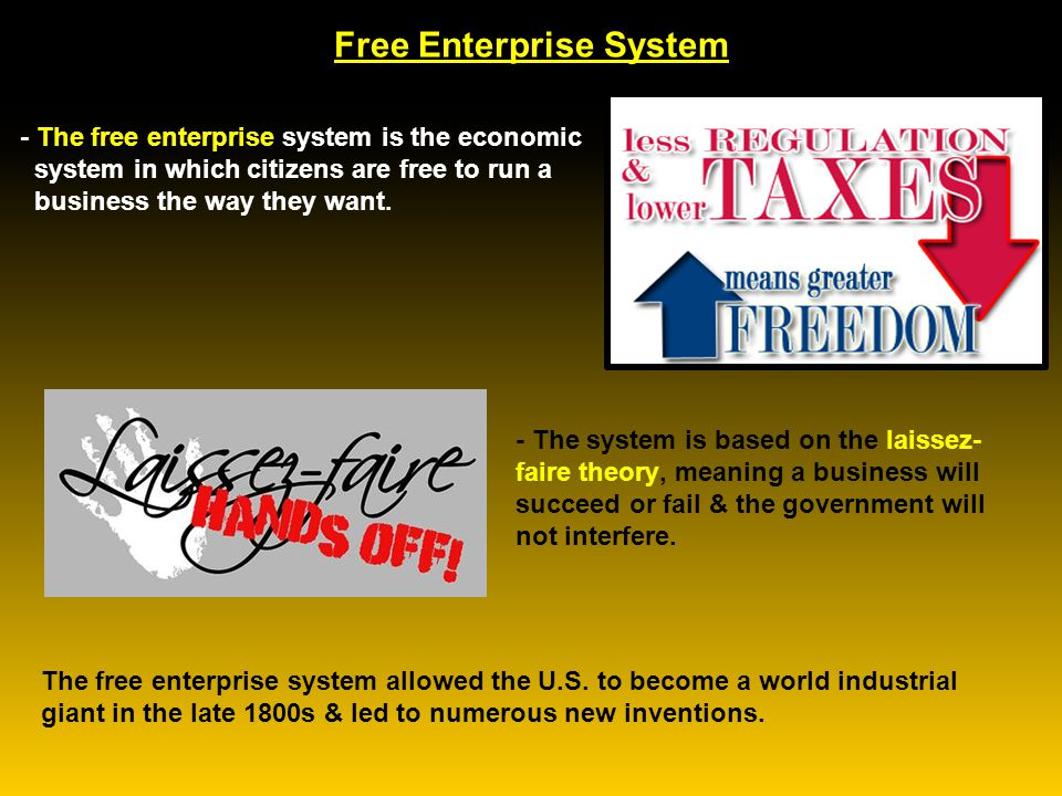 what is the meaning of free enterprise