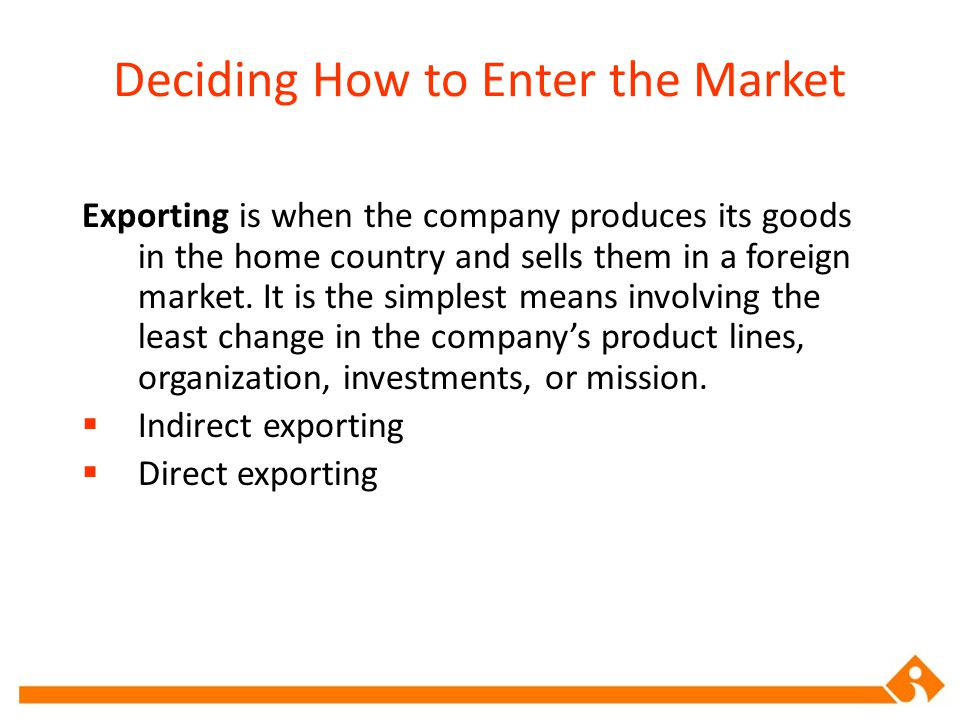 direct exporting definition