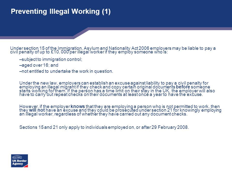 Preventing Illegal Working (1)