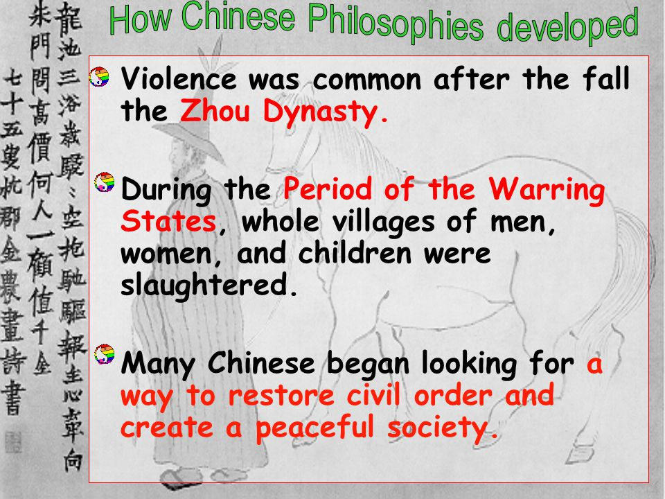 How Chinese Philosophies developed