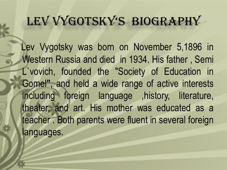 Lev Vygotsky's Biography