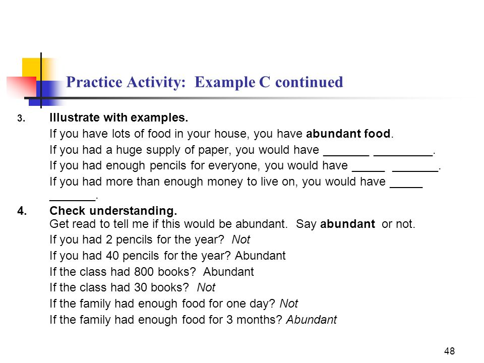 Practice Activity: Example C continued