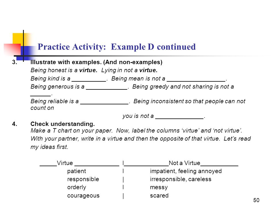 Practice Activity: Example D continued