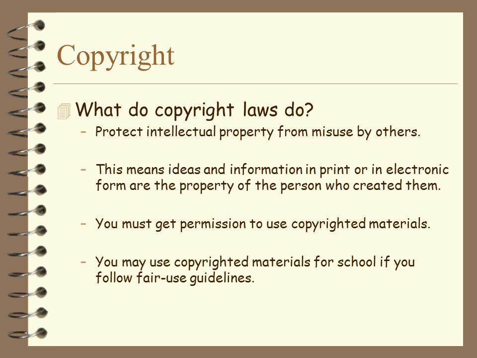 Copyright What do copyright laws do