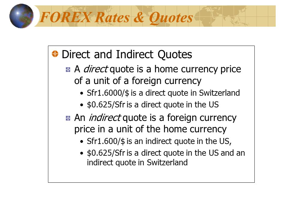 Direct forex