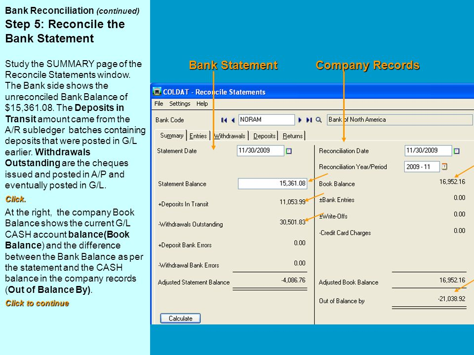 Bank Statement Company Records