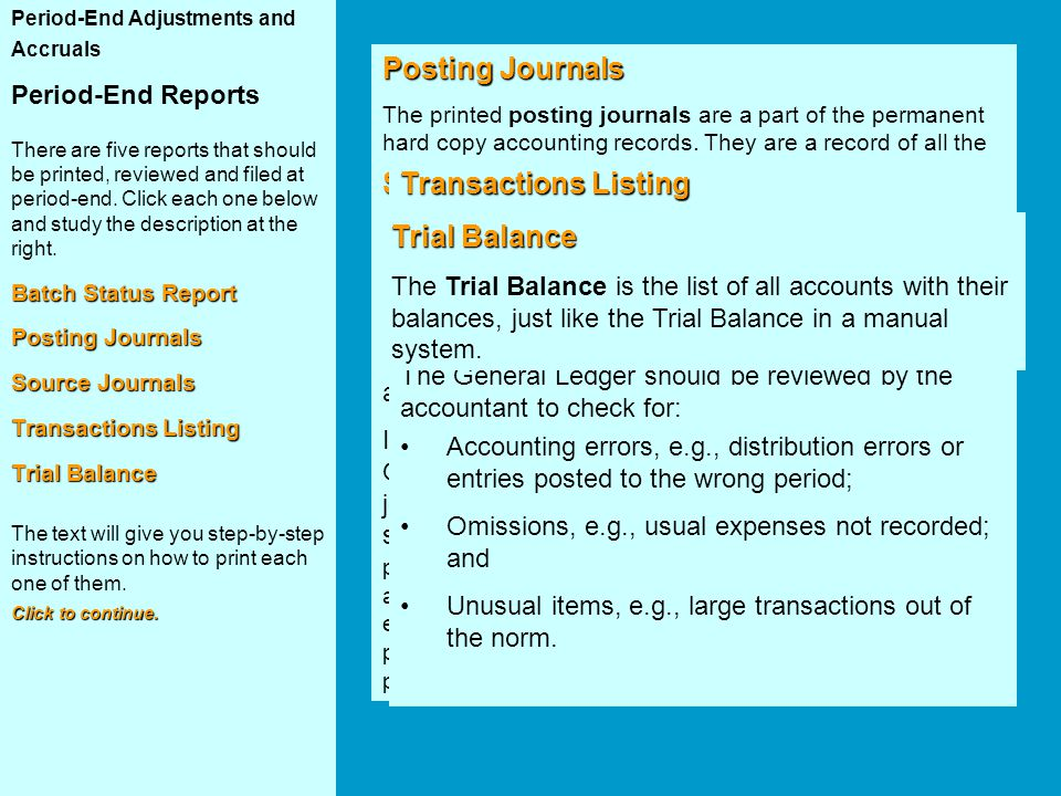 Posting Journals Batch Status Report Source Journals