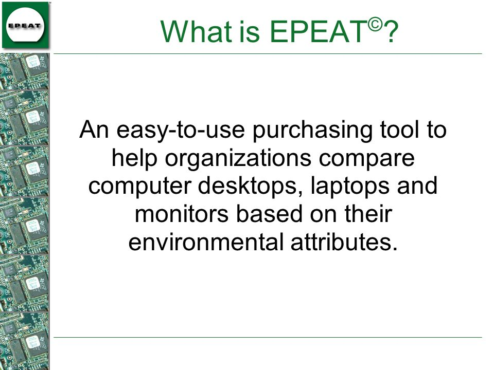 What is EPEAT©