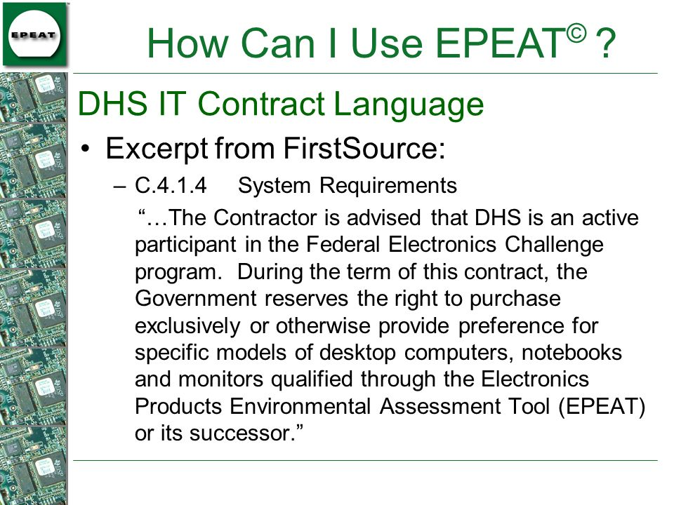 DHS IT Contract Language