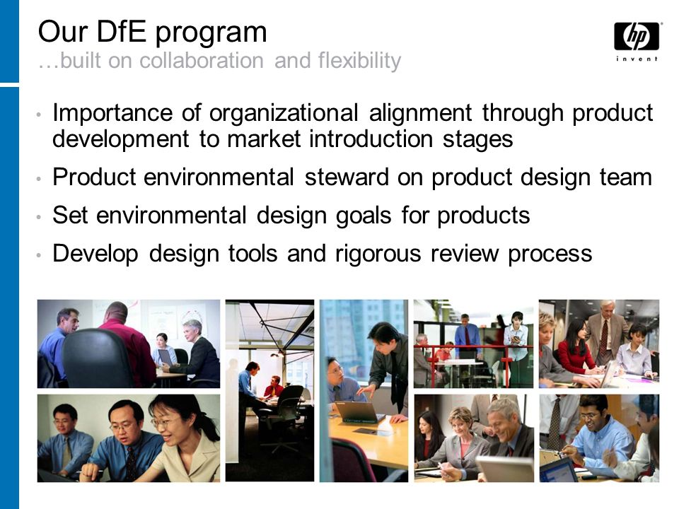 Our DfE program …built on collaboration and flexibility