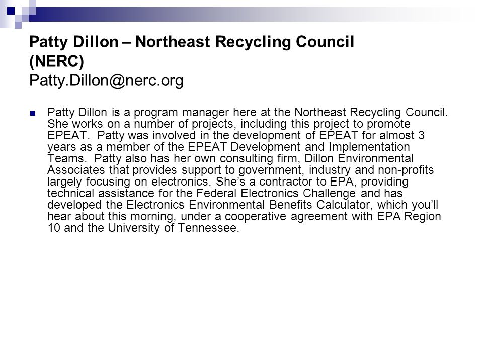 © Northeast Recycling Council, Inc. June 2006
