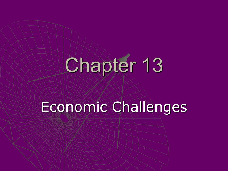 Chapter 13 Economic Challenges