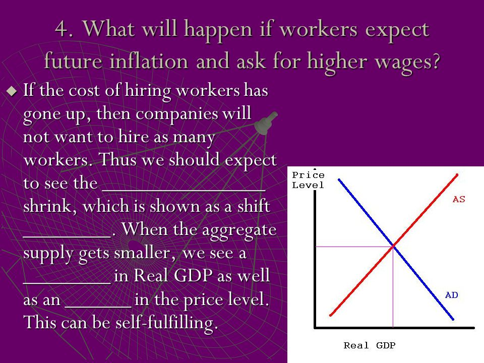 4. What will happen if workers expect future inflation and ask for higher wages