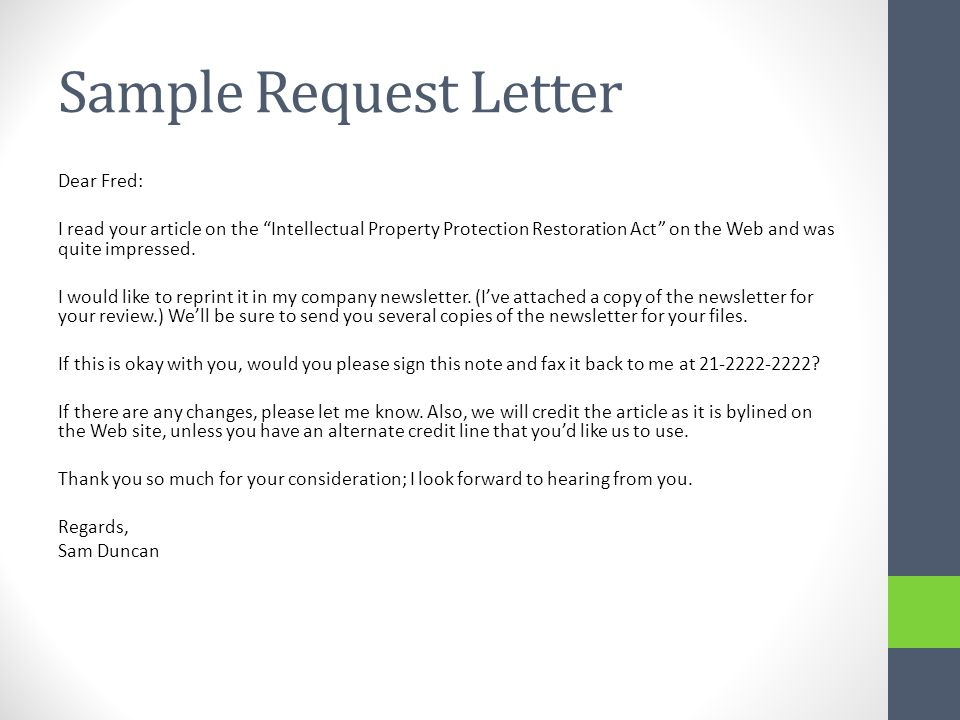 The best way to write a letter requesting a favor (with sample).