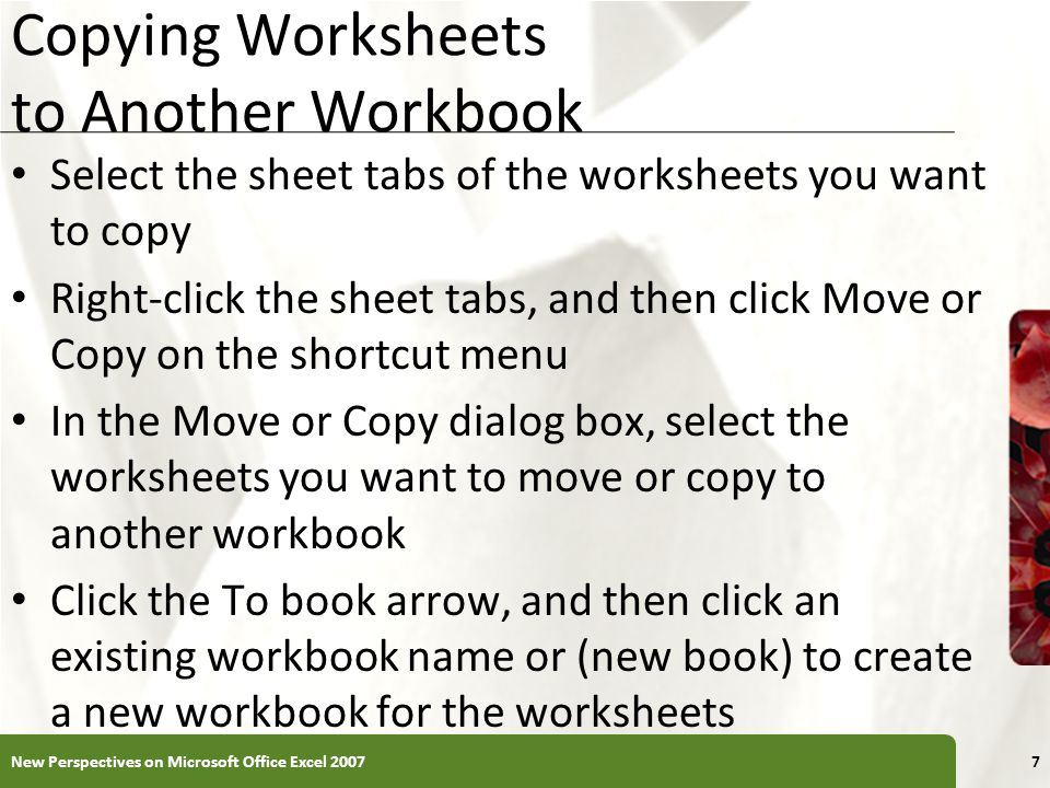 Excel Tutorial 6 Managing Multiple Worksheets And Workbooks Ppt