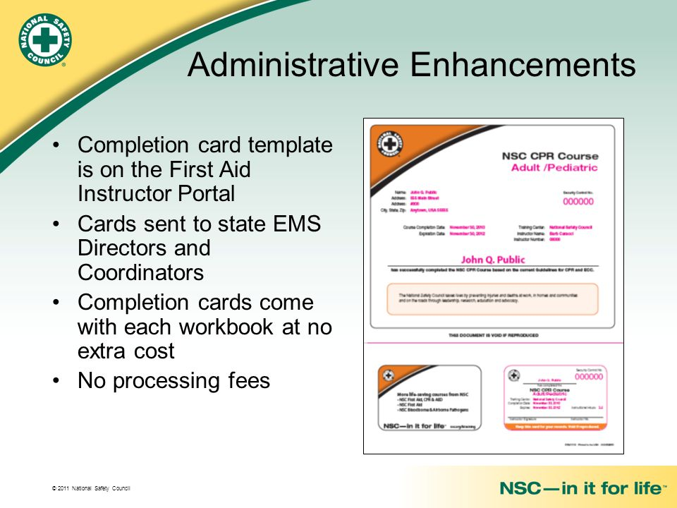 National Safety Council First Aid Training Programs Ppt Download
