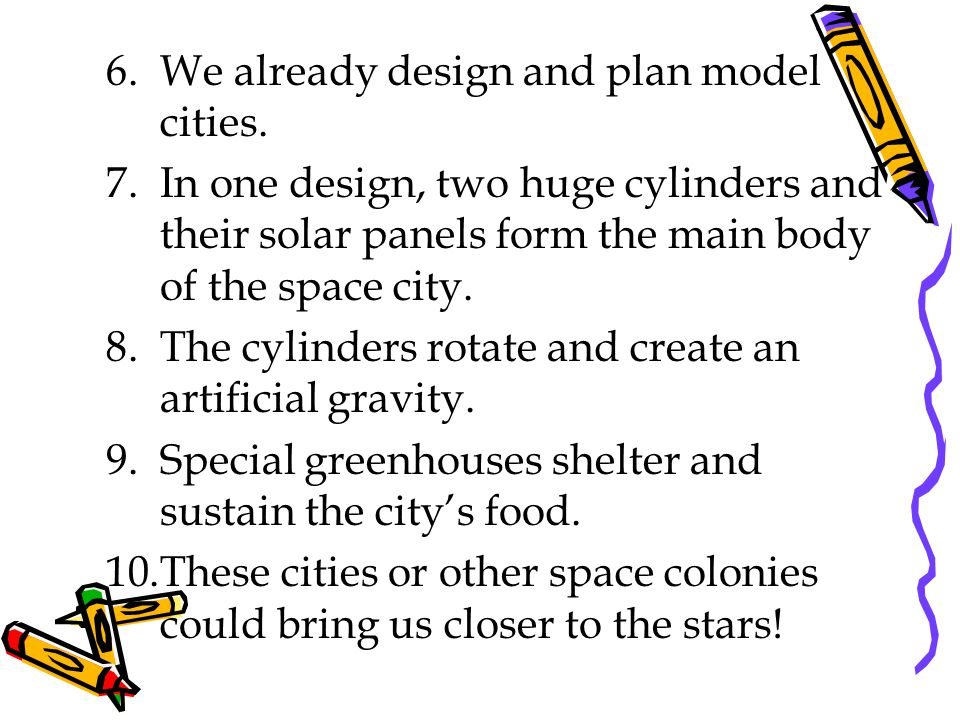We already design and plan model cities.