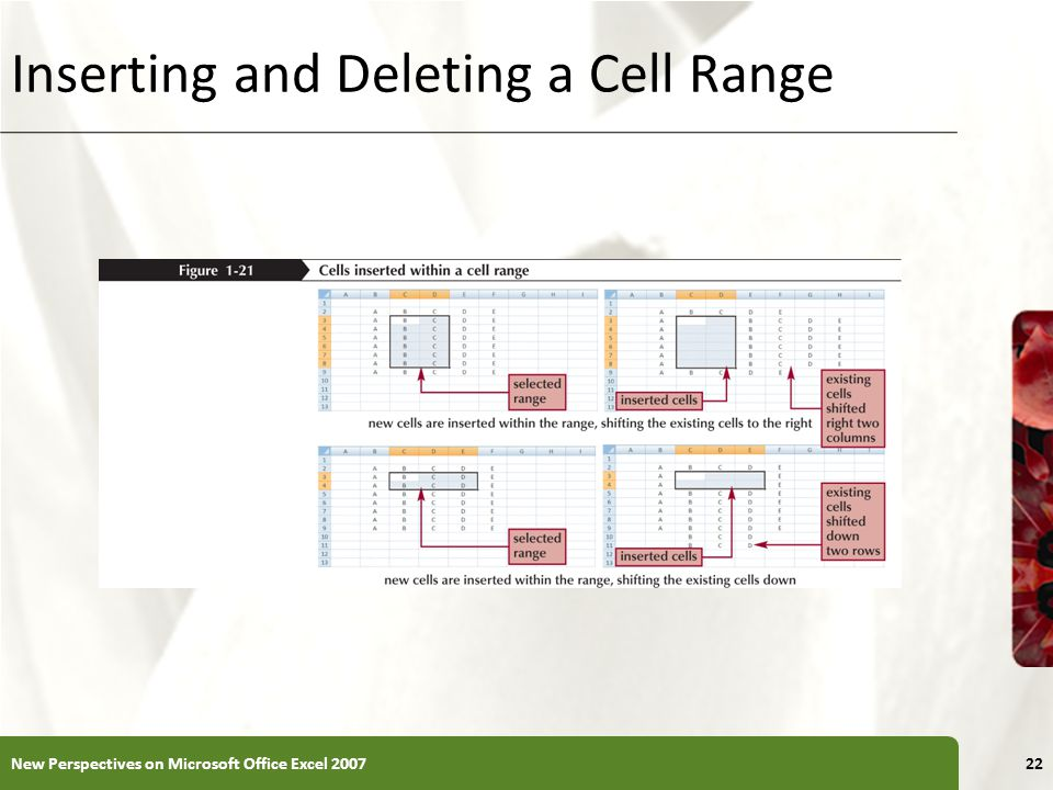 Inserting and Deleting a Cell Range