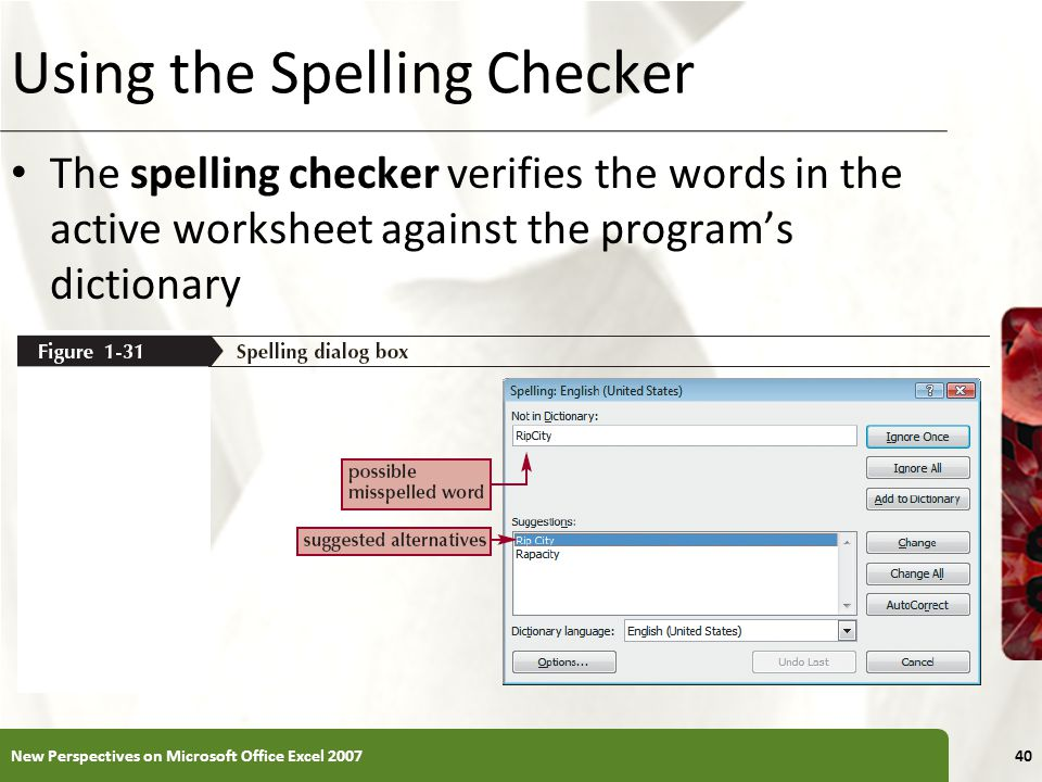 Using the Spelling Checker