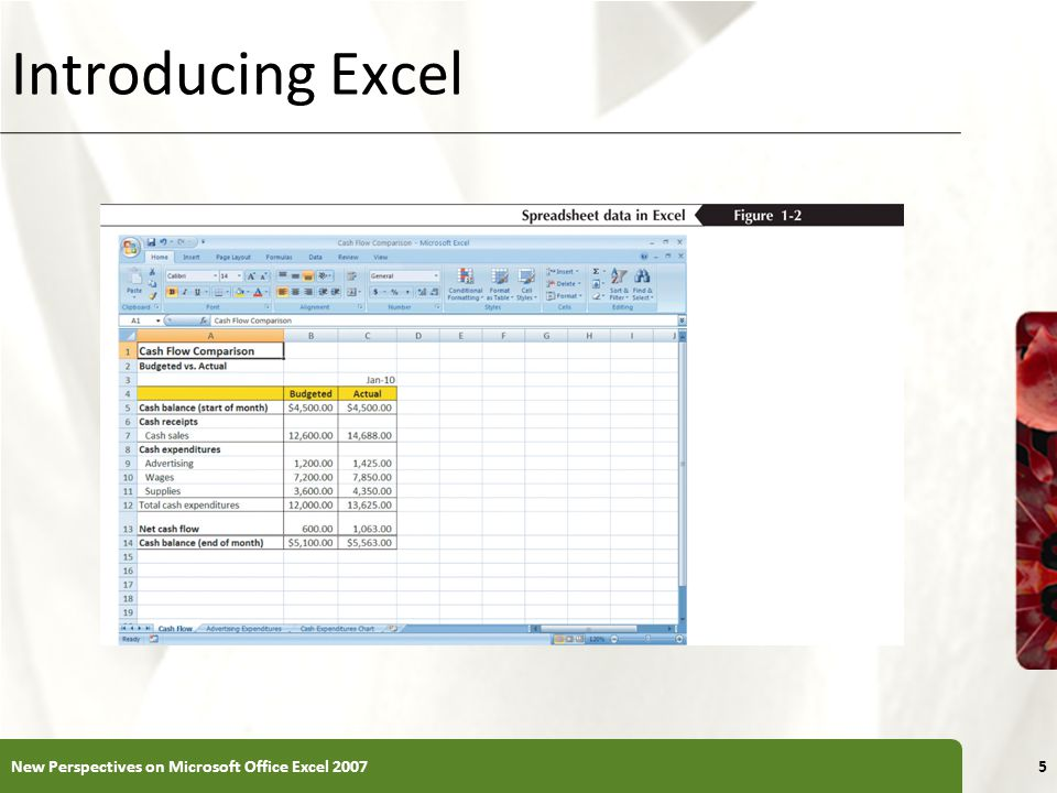 Introducing Excel New Perspectives on Microsoft Office Excel 2007