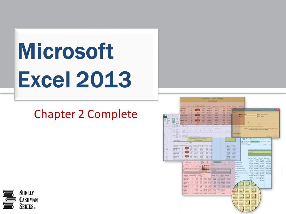 Microsoft Excel 2013 Chapter 2 Complete