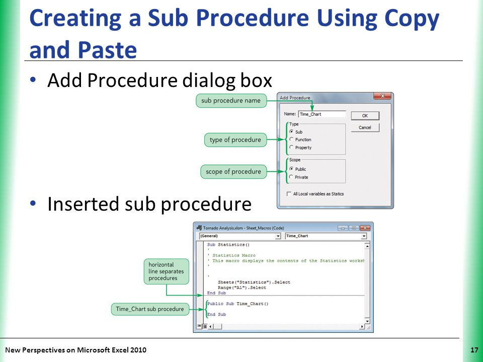 Creating a Sub Procedure Using Copy and Paste