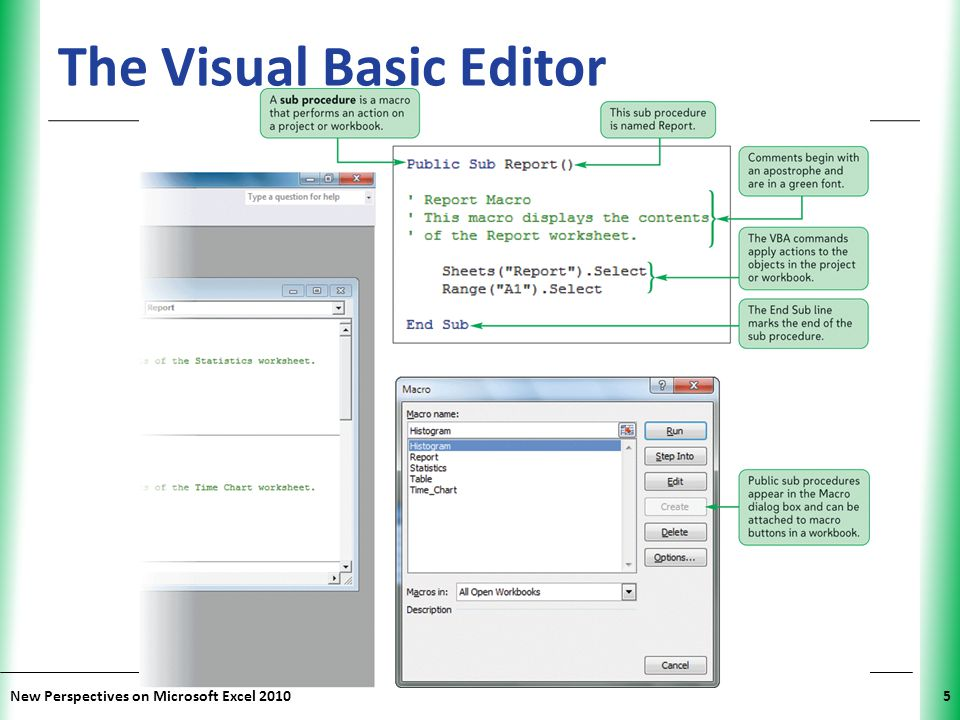The Visual Basic Editor