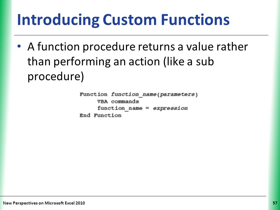Introducing Custom Functions