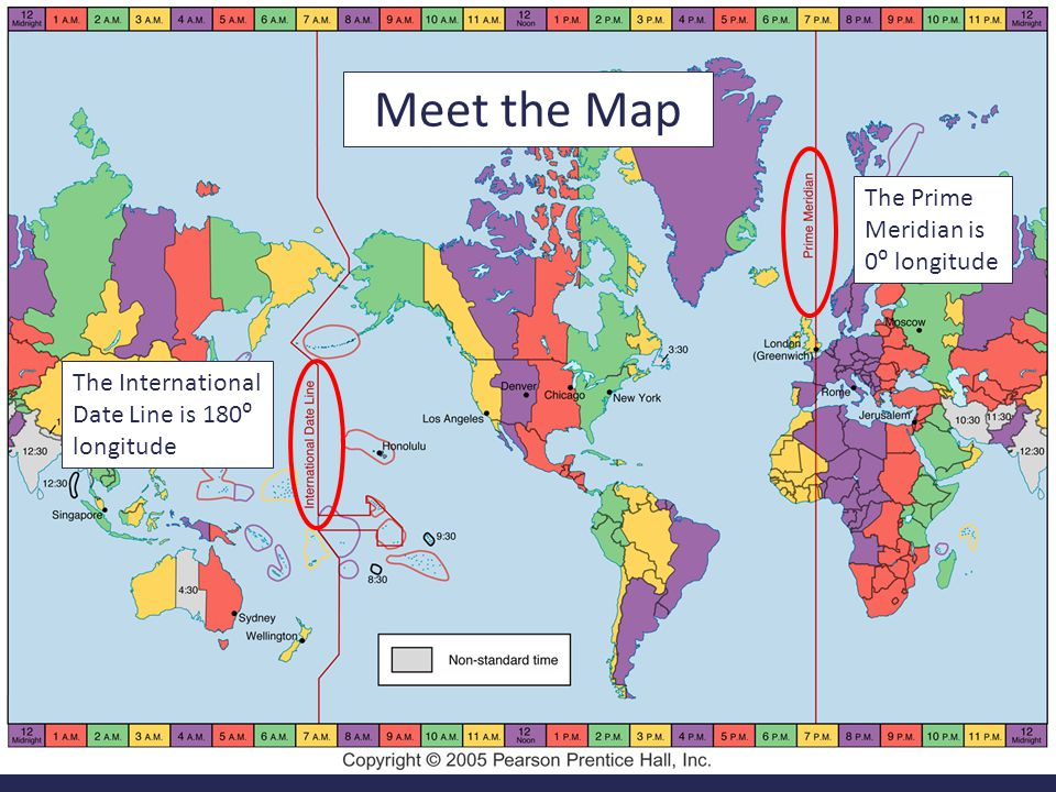 International Date Line On World Map.Calculating Time Travel Ppt Download