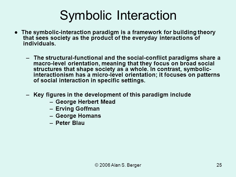 sociological imagination symbolic interaction and the self ethnomethodology reference groups Introduction being one of the most commonly used theories, there are many scholars and theorists who contributed towards the idea of symbolic interactionism to name a few, george herbert mead and charles hortan cooley originated this theory as key people later inspired by them.
