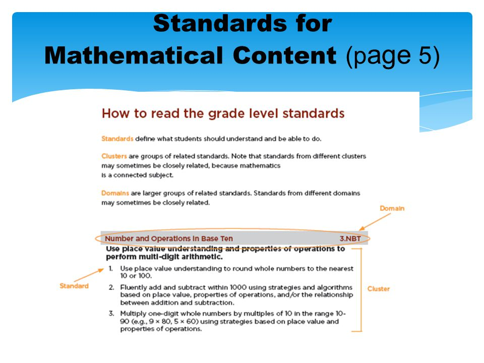 Standards for Mathematical Content (page 5)