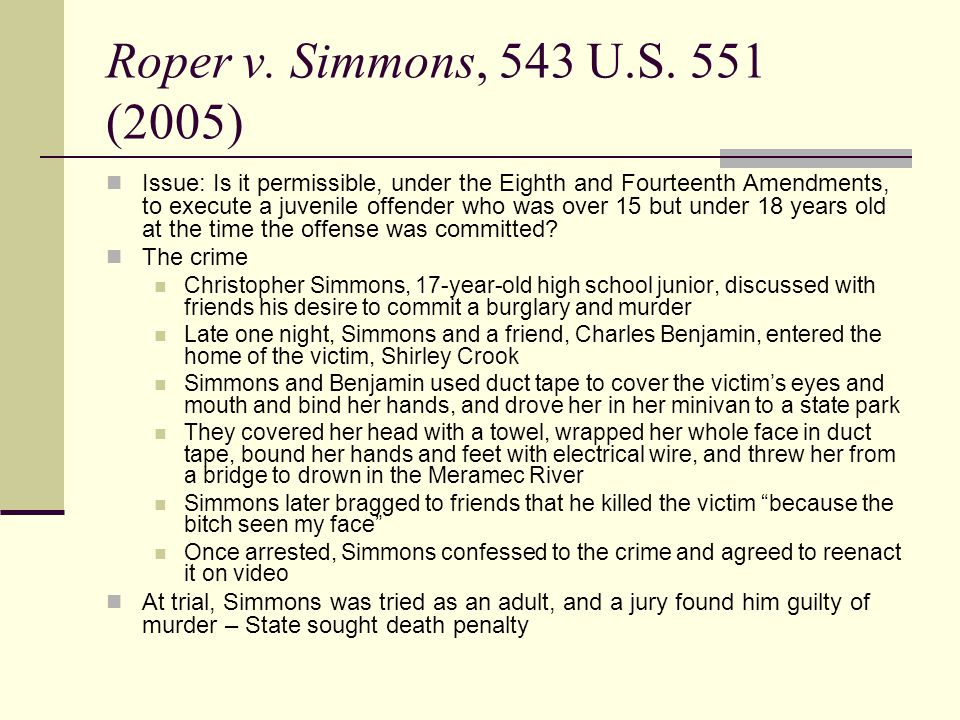 roper v simmons arguments