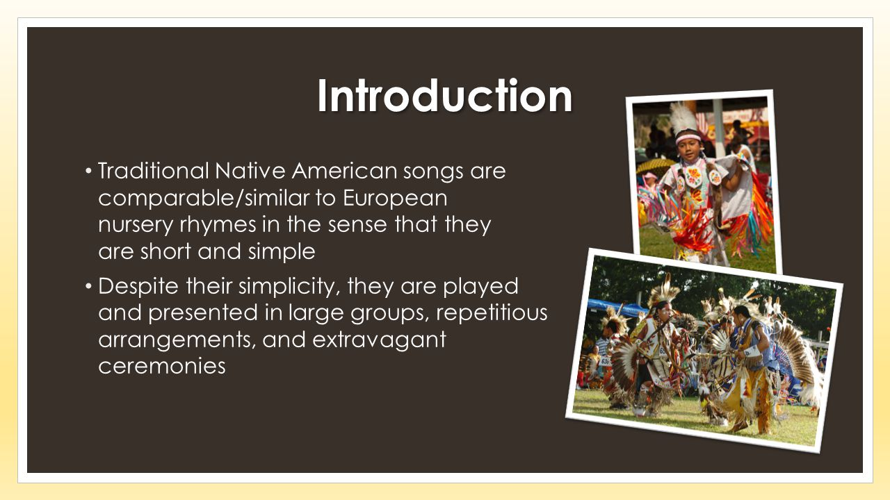 Native American Culture, History, and Music - ppt video