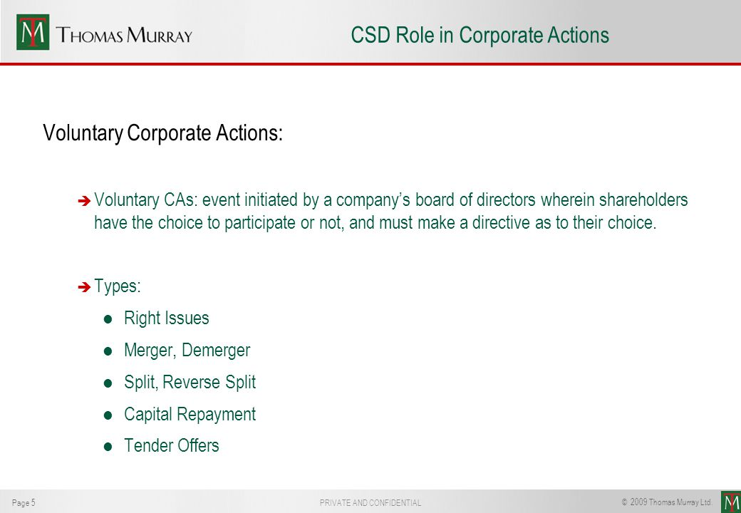 AECSD CSD Role in Corporate Actions John Woodhouse - ppt