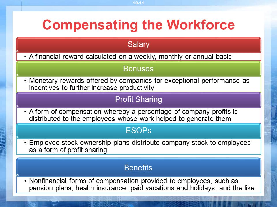 Compensating the Workforce