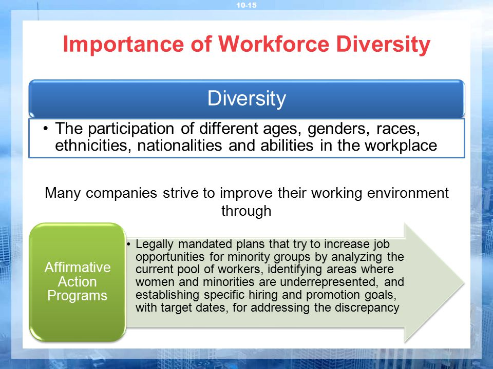 Importance of Workforce Diversity
