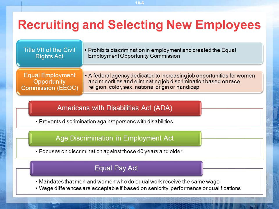 Recruiting and Selecting New Employees