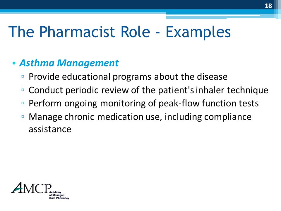 The Pharmacist Role - Examples